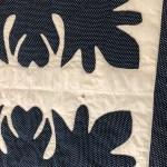 Blue And White Oak Leaf Scherenschnitte Applique Quilt Circa 1890 Pique