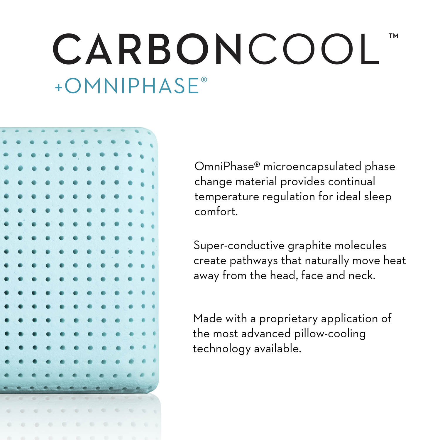 z carbon cool pillow mid loft plush queen carboncool omniphase pillow hotel to home hotel surplus