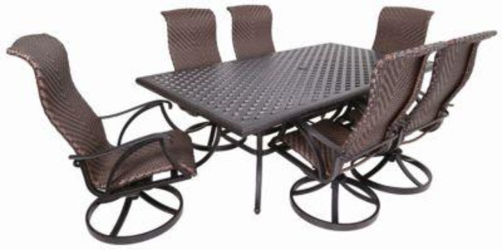 clearance castle rock woven dining set