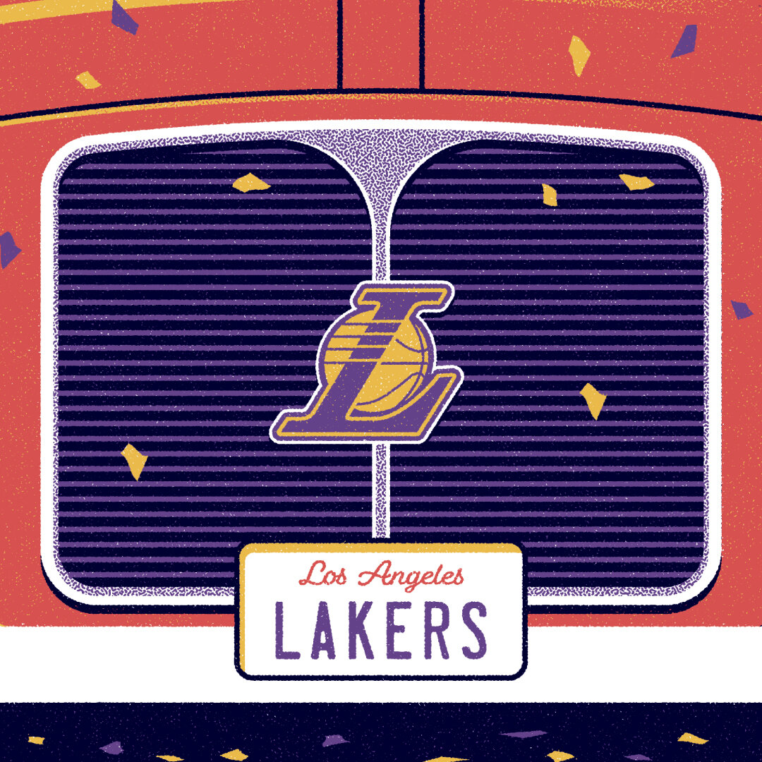 l a lakers nba champions poster dkng
