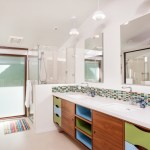 Modern And Mid Century Inspired Baths Able And Baker Custom Cabinetry