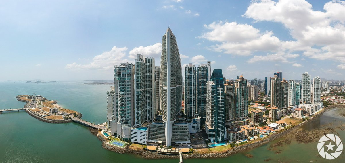 Aerial photo of Trump International Hotel in Panama City