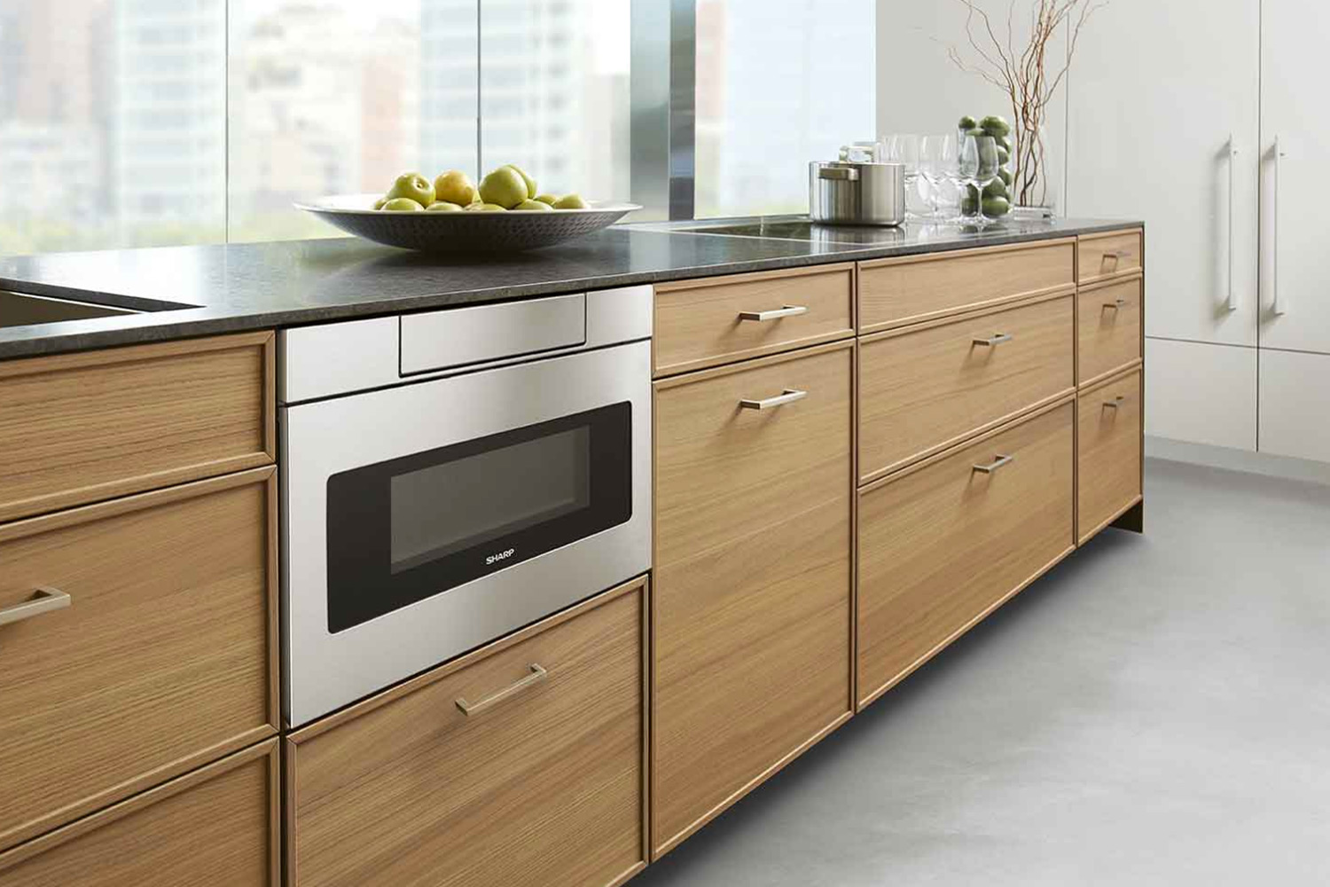 microwave drawer and appliance cabinets