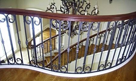 Wrought Iron Railings Custom Metal Work Creative Forge | Decorative Wrought Iron Handrail | Forged Iron | Interior | Classic | Ornamental | Steel