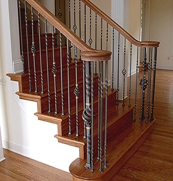 Gallery Of Wrought Iron Interior Railings — Wrought Iron Railings | Wrought Iron Indoor Railing | Steel Frame Wood Deck | Metal | Glass Indoor | Victorian | Traditional