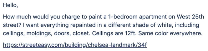 Cost To Paint An Apartment In Nyc