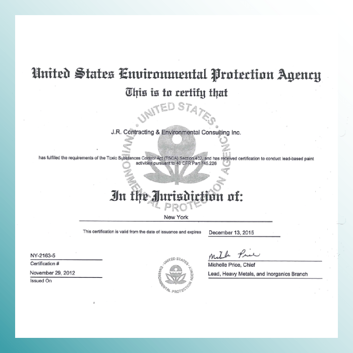 Our Qualifications J R Contracting Environmental