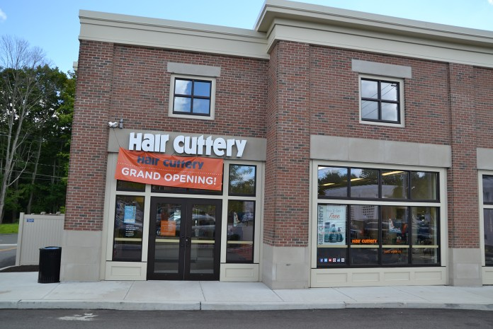 The new Hair Cuttery storefront is seen in Storrs Center, across the parking lot from Price Chopper. The business opened in mid-July, and is open seven days a week. (Amar Batra/The Daily Campus)