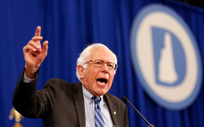 Democratic presidential candidate Sen. Bernie Sanders, I-Vt, speaks during the state's annual Democratic convention Saturday, Sept. 19, 2015, in Manchester, N.H. (Jim Cole/AP)