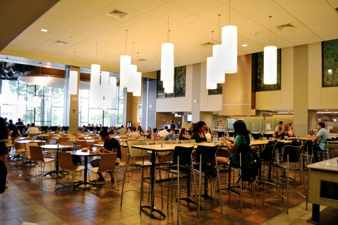 In this photo, the dining area in the Brien McMahon dining hall is pictured.(Bailey Wright/The Daily Campus)