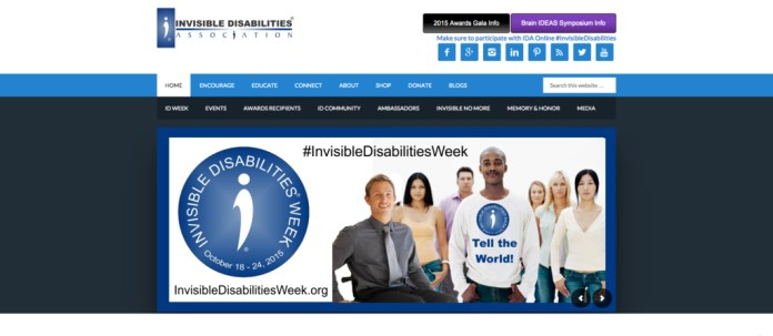 """This week is the beginning of Invisible Disabilities Week, a week to raise awareness for diseases that aren't immediately obvious but have a strong affect on patients.Parkinson's, Epilepsy, Bipolar Disorder or Lyme Disease are a few of the """"invisible"""" disabilities. (Screenshot/Invisible Disabilities Association)"""
