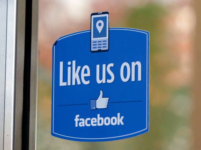 """In this Dec. 13, 2011 file photo, a sign with Facebook's """"Like"""" logo is posted at Facebook headquarters near the office for the company's User Operations Safety Team in Menlo Park, Calif. After four months of testing outside the U.S., Facebook CEO Mark Zuckerberg said on Wednesday, Jan. 27, 2016, that """"pretty soon"""" multiple new emotions will be added to the social network throughout the world. (Paul Sakuma, File/AP)"""