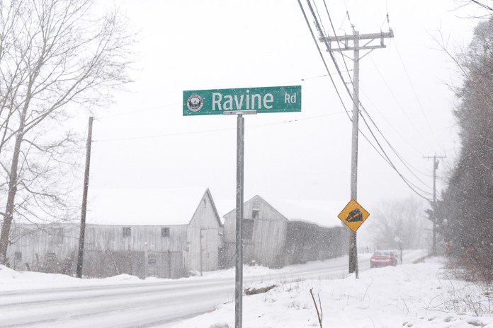 Ravine Road, a partly unpaved road in Mansfield, Conn., connects Route 32 or Stafford Road to North Eagleville Road. Its future as a public road has been the subject of controversy.(Ashley Maher/Daily Campus)