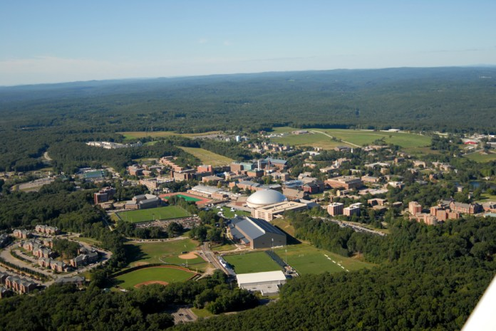 UConn as seen from above.UConn was recently named the 17th best public university according to Buffalo Business First. (File Photo)