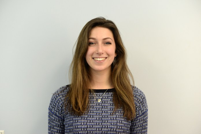 Stephanie Sponzo, a sophomore, is running for USG President. Sponzo is currently the vice chair for USG's student development committee and she sits on the university senate. (Amar Batra/The Daily Campus)