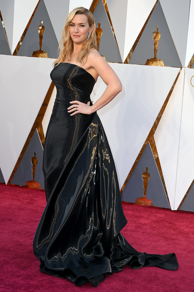 Kate Winslet arrives at the Oscars on Sunday, Feb. 28, 2016, at the Dolby Theatre in Los Angeles. (Photo by Jordan Strauss/Invision/AP)