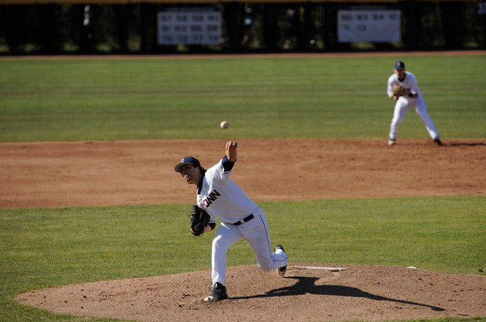 The UConn Huskies baseball team will head down to Greenville, North Carolina this weekend to take on the East Carolina Pirates in an American Athletic Conference matchup at ECU's Clark-LeClair Stadium. (Jason Jiang/The Daily Campus)