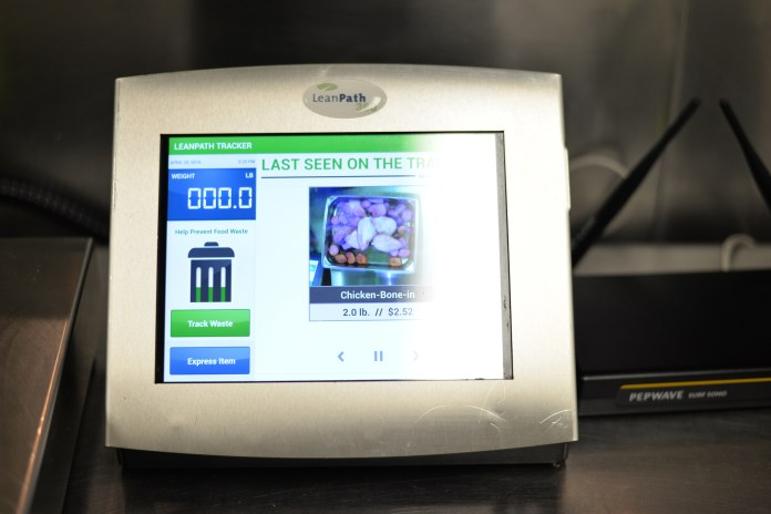 A LeanPath system used to track food waste in UConn dining halls. (Amar Batra/The Daily Campus)