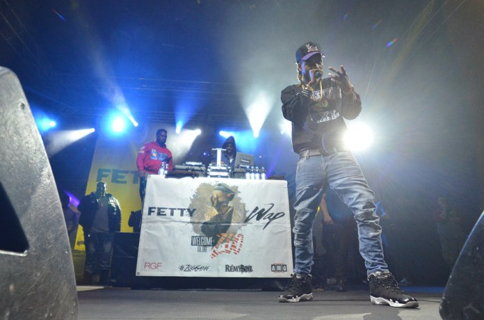 Fetty Wap performed at Gampel Pavilion for the SUBOG Summer Concert at Gampel Pavilion on April 15, 2016. (Bailey Wright/The Daily Campus)