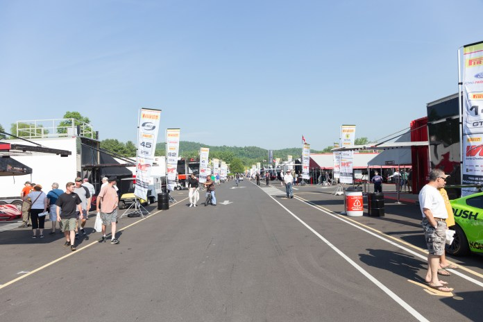 The race teams' paddock area is open the entire day, which offers fans a great look at the cars that they see out on the track.(Jackson Haigis/Daily Campus)