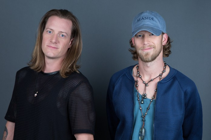 Tyler Hubbard, left, and Brian Kelley of Florida Georgia Line pose for a portrait on Thursday, Aug. 25, 2016, in New York. (Amy Sussman/Invision/AP)