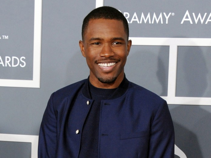 Frank Ocean arrives at the 55th annual Grammy Awards in Los Angeles on Feb. 13, 2013. Apple Music has released new and long-awaited music from Grammy award-winning singer. (Jordan Strauss/Invision via AP)