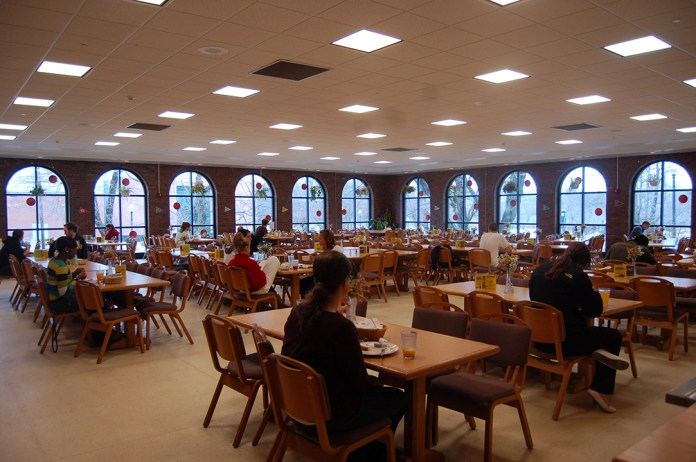 The Buckley dining hall is seen in this file photo. Buckley is often described as one of the more low-end dining halls to be found on campus. (File Photo/The Daily Campus)