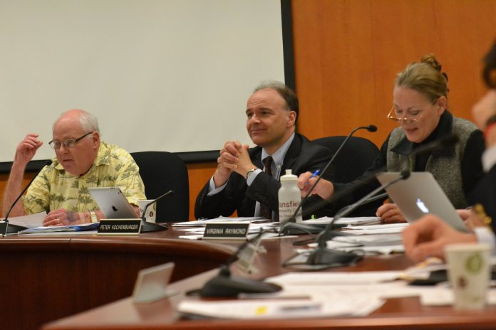 The Mansfield Town Council met on Monday, September 12, 2016 to discuss agenda items including a Sewer Contract with the University of Connecticut and consistent concerns with off-campus student housing. (Bailey Wright/The Daily Campus)