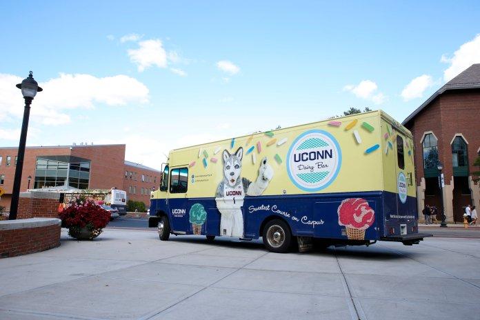 The UConn Dairy Bar ice cream truck. (Tyler Benton/The Daily Campus)