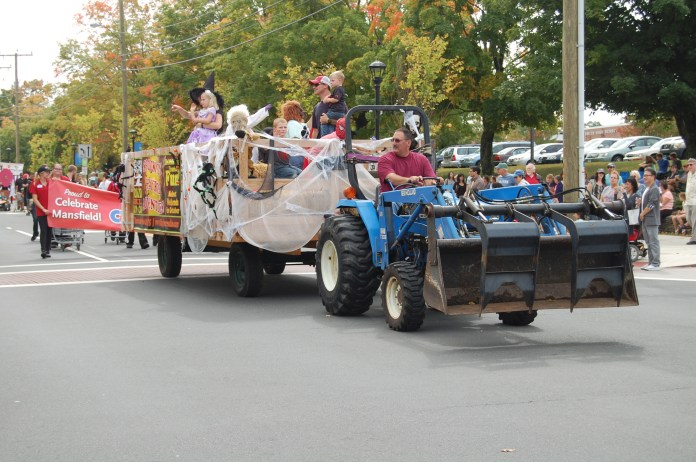 The Celebrate Mansfield event kicks off every year with a parade that showcases local businesses and community members. (File Photo/The Daily Campus)