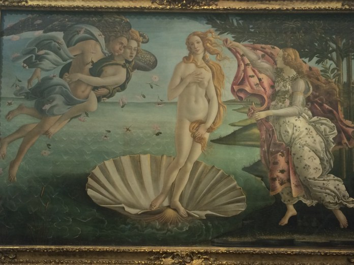 """""""The Birth of Venus"""" by Botticelli from the Uffizi museum in Florence. (Sten Spinella/The Daily Campus)"""