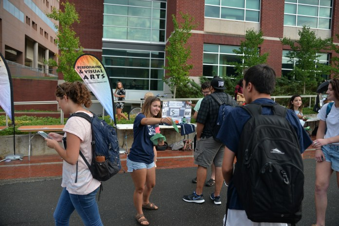 Student clubs look for new members during the Fall Involvement Fair on Sept. 14, 2016. The university has around 600 clubs and organizations and over the past year, 30 university clubs have ceased to exist. (Amar Batra/The Daily Campus)