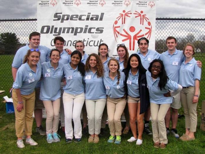 Jeffny Pally, third from the left in the bottom row, was a committee member for the Special Olympics event Husky Classic and a rising member of UConn Community Outreach. She was a 19-year-old a sophomore from West Hartford.(Courtesy/Jessica Oknin)
