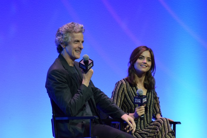 """""""Doctor Who's"""", Peter Capaldi and Jenna Coleman,at Awesome Con 2016 in Washington, D.C.(Pat Cuadros/Flickr Creative Commons)"""