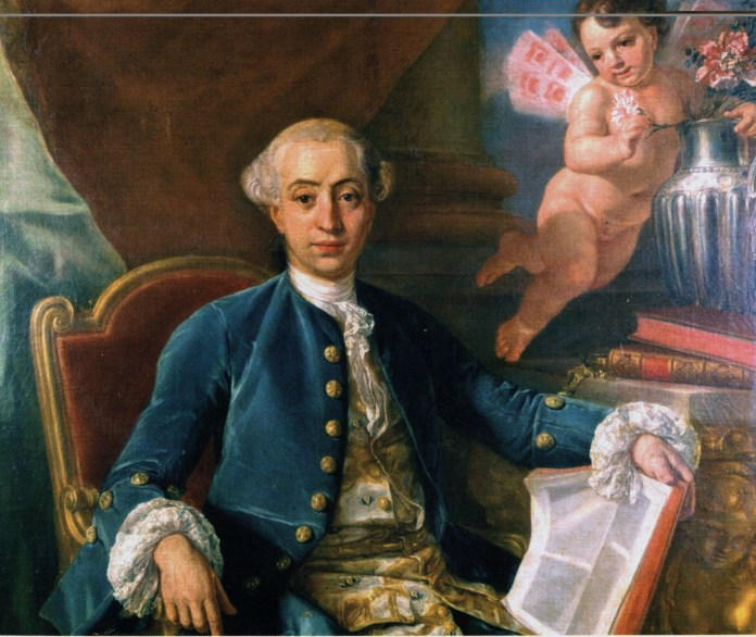 """The man, the myth, the legend had his likeness captured in Anton Raphael Mengs's painting """"Giacomo Casanova"""" in 1760. (Anton Raphael Mengs/Wikimedia Creative Commons)"""