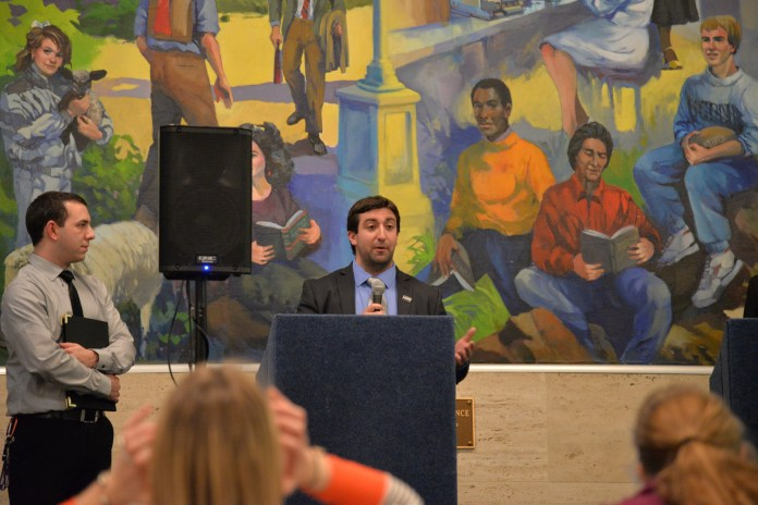 Anthony Patelunas, the former Graduate Student Senate President, will be the first graduate student to be the Student Director of the UConn Foundation.(Amar Batra/The Daily Campus)