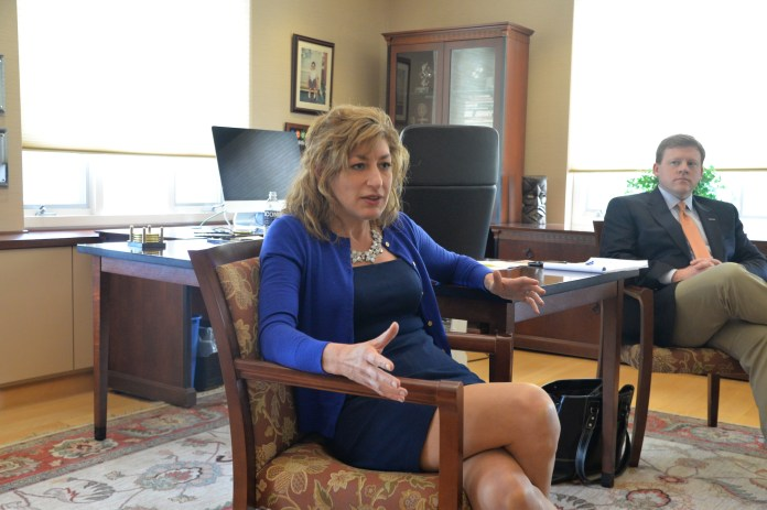 UConn's president, Susan Herbst, will hold office hours this Tuesday from 2 to 4 p.m. The purpose is to give students the opportunity to share their ideas, suggestions and questions.(Amar Batra/The Daily Campus)