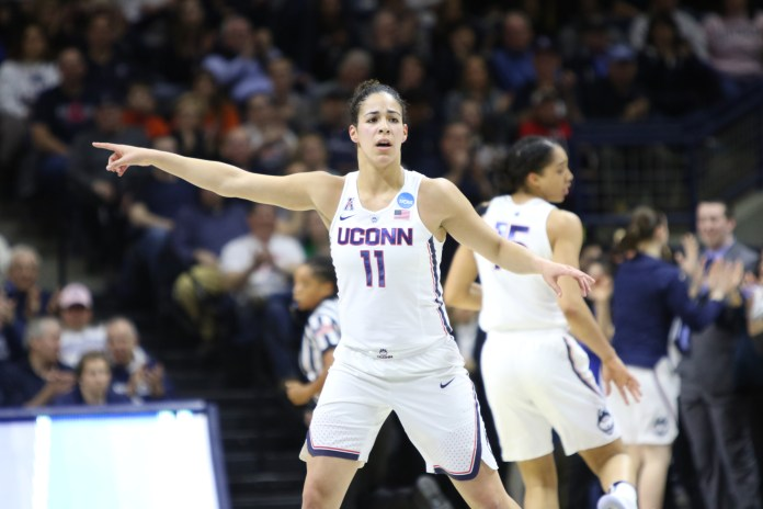 Kia Nurse (#11) finished with 29 points, going 9-12 from three-point land in the victory. (Jackson Haigis/The Daily Campus)