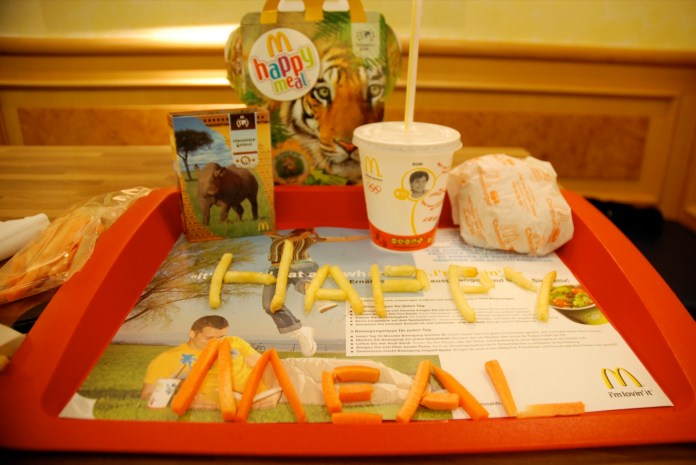 University of Connecticut Professor Jennifer Harris conducted a recent study that looked into food advertising's affect on children, specifically focusing on uses of health and wellness messages. (Happy Meal/Creative Commons)