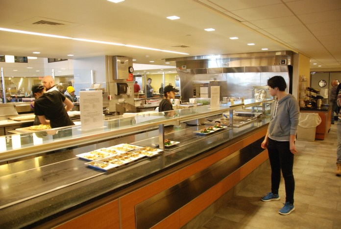 Reports say that McMahon Dining Hall is decreasing red meat dishes. (Christine Pan/The Daily Campus)