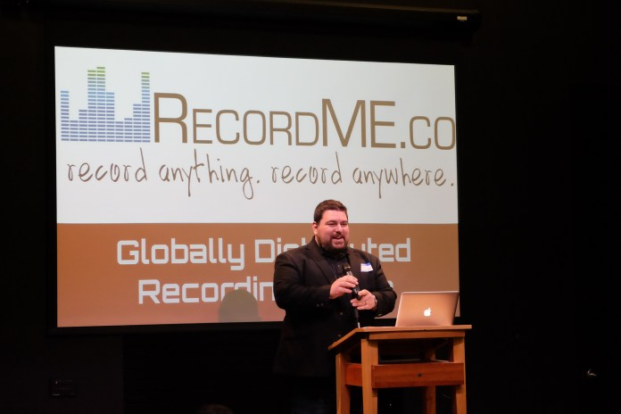 RecordME.co is a unique device that allows music-lovers to create record-studio quality music from any venue. (Jon Sammis/The Daily Campus)
