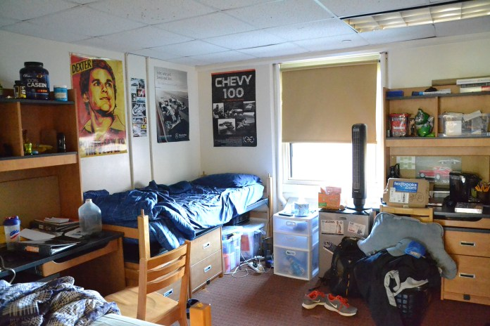 Study rooms in Northwest turned into double and triple dorm rooms. (Olivia Stenger/The Daily Campus)