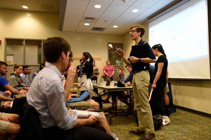 A special USG Senate was held on April 12, 2017 in Student Union Room 104. During the meeting, members voted in favorite of allowing culture center to participate in homecoming events, voted against mentioning Greek life in the budget cut proposal.