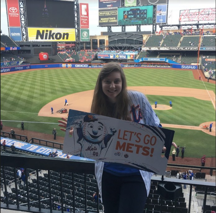 The author shows off her love of the Mets in this Mets-tacular themed photo. (Courtesy/Stephanie Sheehan)