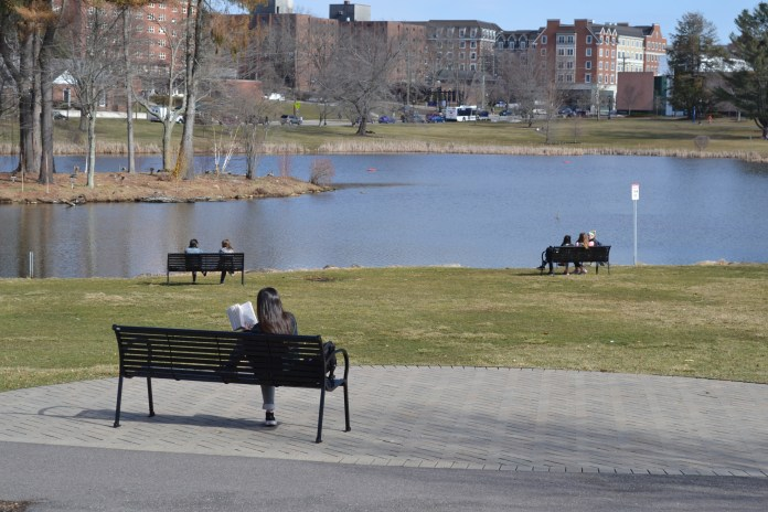 """Now people ask me, """"Are you going to miss UConn?"""" My answer is always """"yes."""" I've sought to slow down this final month, which was fruitless, as life only moved faster once the weather got warmer. (Olivia Stenger/The Daily Campus)"""