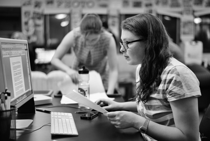 From freshmen year Julia Werth has worked her way up the Daily Campus ranks, serving as Editor in Chief her senior year. (Photo courtesy of Julia Werth)