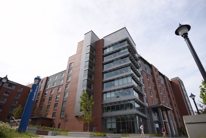 New NextGen residential hall, UConn's latest housing project, located in the Hilltop area of campus. (Zhelun Lang/The Daily Campus)