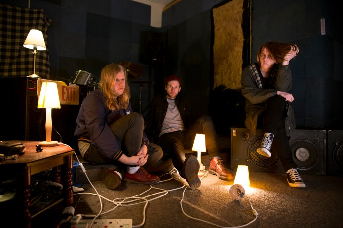 """Scottish indie punk band Pinact prepare to release second album """"The Part That No One Knows."""" From left, bassist Jon Arbuthnott, drummer Lewis Reynolds and vocalist/guitarist Corrie Gillies."""