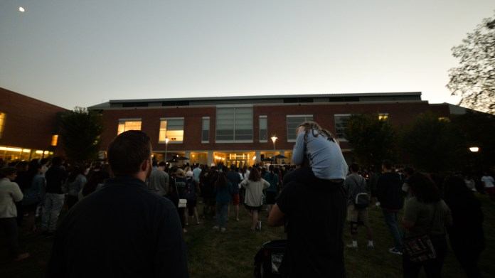 UConn students and faculty attend a candlelight vigil on Wednesday, August 30, 2017 in order to help stand up to racism and intolerance in this country. Noel Cazenave believes the Stand Up and Speak Out campaign will join the voices of millions of other Americans dedicated to protecting the country's values racially-bigoted, class-exploitative, misogynistic, xenophobic and homophobic attacks. (Amar Batra/The Daily Campus)