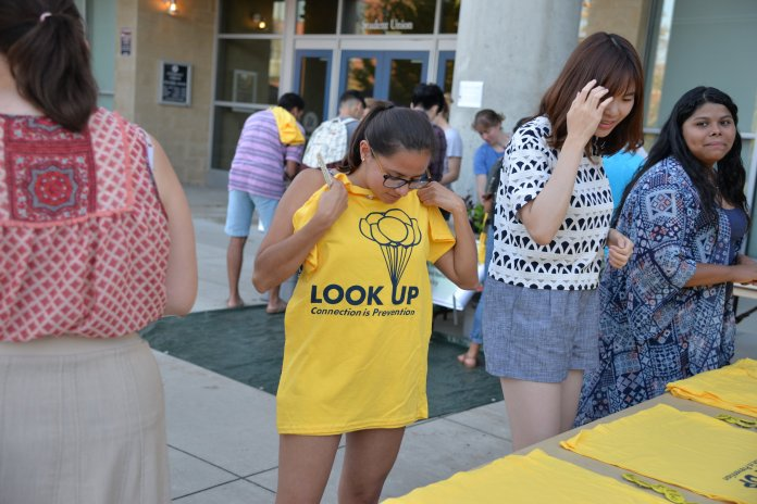 CMHS and PRLACC handed out shirts during Tuesday of Suicide Prevention Week during their Garden of Intentions event. (Amar Batra/The Daily Campus)
